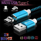 US 1-3M USB Magnetic Charger Data Cable For Samsung S9 S8 S7 Android Phones Lot