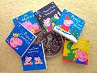 "SIX DOLLS HOUSE MINIATURE ""Peppa Pig"" BOOKS - Small or Standard Version HANDMADE"