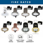 10 x Fire Rated Fixed or Tilt LED GU10 Recessed Ceiling Spotlights Downlights