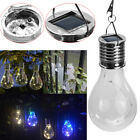 Solar Rotatable LED Bulb Outdoor Waterproof Garden Camping Hanging Light Lamp#ab