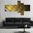 wall protection panels - Designart 'Brown Metal Protective Grids' Abstract Wall Art Canvas