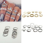 Stylish Ladies Women Boho Fashion Thumb Mid Finger Rings Vintage Retro Set 10pcs
