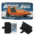 Personalised Bond Bug iPhone Flip Case Classic Car Phone Cover CL03