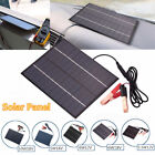 10W 6W 55W 5W 18V 12V Solar Panel Power Battery Charger Backup Auto Camp + Clip