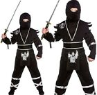 Childrens Fancy Dress Ninja Assasin Costume Childs Ninja Boys Outfit New w
