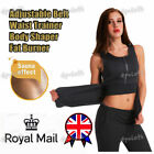 Women Sauna Belt Adjustable Waist Trainer Top Vest Slim Gym Thermal Shaper UK
