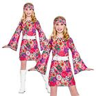 Girls Retro Gogo Go Go Outfit Hippie Hippy 60s 70s 1960s Fancy Dress Costume