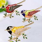 Fashion Lovely Animal Bird Crystal Brooch Pin Women Costum Spring Jewelry Gift