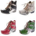 Leather Ladies Ankle Boots Padded Boots Real Leather Winter Shoes Tma 8077 36-42