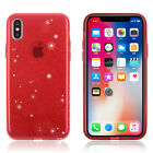 For iPhone X 8 7 Plus Full Bling Pink Glitter Sparkle Case Cute Protective Cover