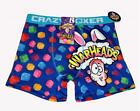 CRAZY BOXER Blue Colorful WARHEADS Candy Bunny Ears Boxer Briefs Men's NWT