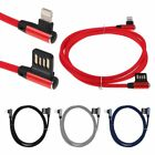 90 Degree Braided 8 Pin Micro USB Type C Data Sync USB Fast Charging Cable Cord