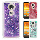 Motorola Moto E5 PLUS Liquid Glitter Quicksand Hard Case Phone Cover Accessory