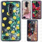 For ZTE Blade X Max Liquid Glitter Quicksand Hard Case Phone Cover Accessory