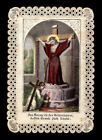 old holy card lace canivet santino merlettato THE BLOOD OF JESUS