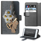 Dream Key Daisy Phone Case, PU Leather Wallet Flip Case, Cover For Samsung/Apple
