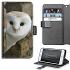 Barn Owl Phone Case, PU Leather Wallet Flip Case, Cover For Samsung, Apple, Sony