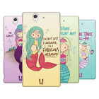 HEAD CASE DESIGNS FANCIFUL MERMAIDS HARD BACK CASE FOR SONY PHONES 3