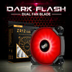 darkFlash LED Case Fan 120mm 12cm PC Computer Cooling Mod Blue/Green/Red