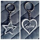PERSONALISED HEART STAR ACRYLIC KEYRING NAME UNIQUE SCHOOL BAGS TAGS XMAS