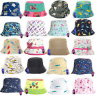 Childrens Summer Bucket Bush Hat Sun Protection Boys Girls Kids Baby Patterned