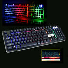 USB Wired 7 Colors Rainbow LED Backlight Keyboard with FN Combination for Laptop