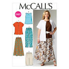 McCall's 6970 Sewing Pattern to MAKE Tops Skirt Trousers & Shorts Plus Sizes