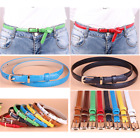 8 Colors Ladies Women Girls Fashion Skinny Thin PU Leather Waist Belt Waistbelt