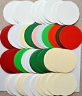 CIRCULAR Card Shapes 83mm Dia Mixed Colours, Textured or White Super Smooth NEW