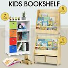 4/5 Levels Kids Bookshelf Bookcase Rack Toy Storage Organizer Display Wooden