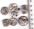 Lot of 6 WOMEN WATCHES with dials Vintage Movements Steampunk Art or for parts