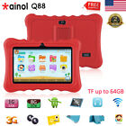 "7"" Quad Core 1+8GB Tablet for Kids 3G TF 64GB Android7.1 2*Cam WiFi Bundle Case"