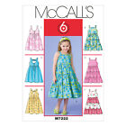 McCall's 7222 Sewing Pattern to MAKE  Girls' Summer Dresses in 6 Designs