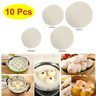 10Pcs Round Cheesecloth Non-stick Cloth Filter Steamer Liner Reusable Unbleached