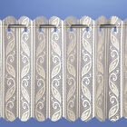 New Filigree Net Voile Pleated Vertical Blind Panel Curtain Cream Size Choice