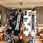 3D MOSCHINO Silicone Phone Case Black Jacket For iPhone X XS Max XR 6 7 8 Plus
