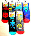 Mens  Mr Men Character Socks (Ideal Gift)  Uk Size 6 - 11   New