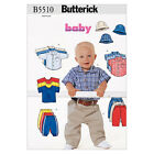 Butterick 5510 Sewing Pattern to MAKE Infants' Button-Down Shirts T-Shirt Pant