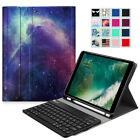 For iPad 6th Generation 9.7'' 2018 Leather Bluetooth Keyboard Case Stand Cover