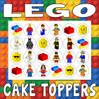 24 / 30 / PERSONALISED - LEGO CUPCAKE CAKE TOPPERS RICE PAPER BIRTHDAY CHILDREN