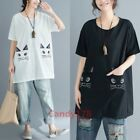 Chic Short Sleeve Womens Tops Loose Casual Date Blouse New Style Hot Sale Pocket
