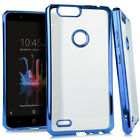 For ZTE Blade Z Max Chrome TPU Gel Protector Hard Skin Case Phone Cover