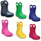 Crocs Handle It Wellington Boots Kids Boys Girls Waterproof Pull On Rain Shoes