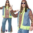 Mens Hippy Hippies 60s Sixties Psychedelic Woodstock Fancy Dress Outfit Costume