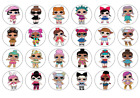 24 / 30/personalised LOL SURPRISE DOLLS CUPCAKE TOPPERS RICE PAPER BIRTHDAY