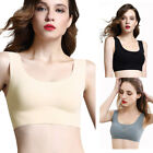 2pcs Women's Ice Silk Bras Seamless Wire Free Yoga Vest Tops with removable pads