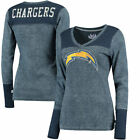 Los Angeles Chargers Touch by Alyssa Milano Women's Goal Line Long Sleeve V-Neck $49.99 USD on eBay