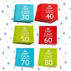 KEEP CALM 30 40 50 60 70 80 AGE PARTY BIRTHDAY NAPKINS SERVIETTE PAPER PARTYWARE