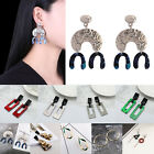 Women Ethnic Exaggerated Large Alloy Geometry Drop Earrings Studs Jewelry Decor, used for sale  Shipping to Canada