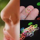40Pcs Nose Open Hoop Ring Lip Earring Body Piercing Studs Jewelry Surgical Steel image